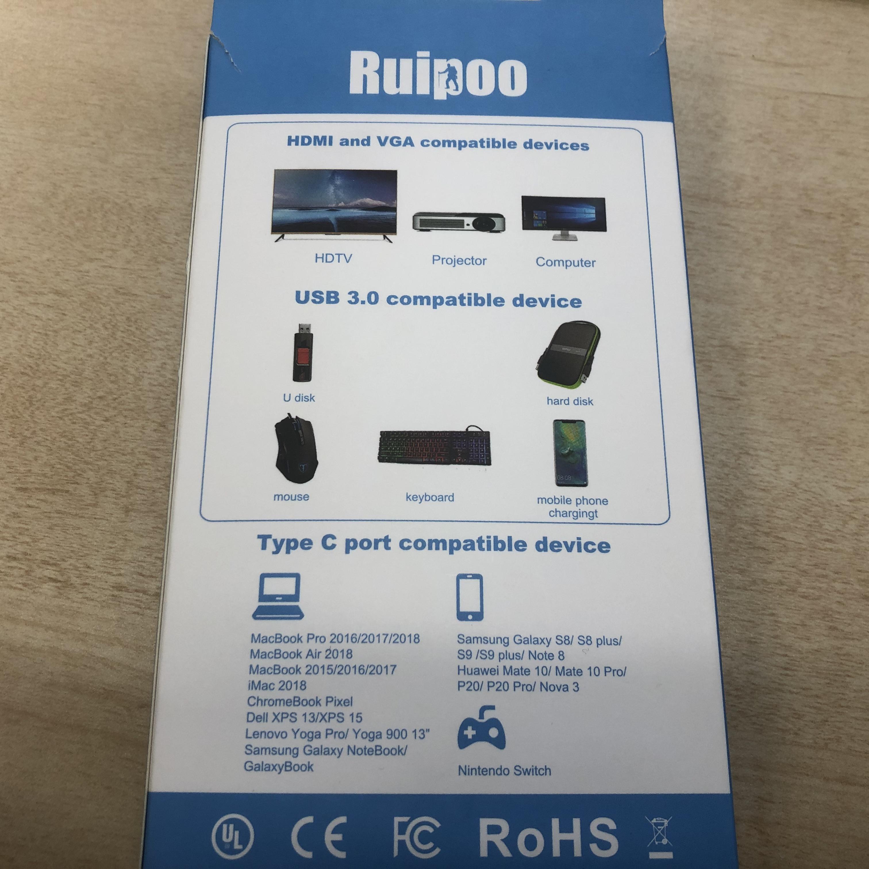 Ruipoo USB Type-Cハブ 壊れた